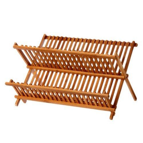Maison Futée - Égouttoir à vaisselle Bambou - Pliable, 34 assiettes