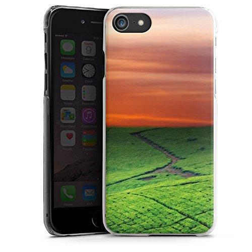 Apple iPhone X Silikon Hülle Case Schutzhülle Wiesenlandschaft Sonnenuntergang Irland Hard Case transparent