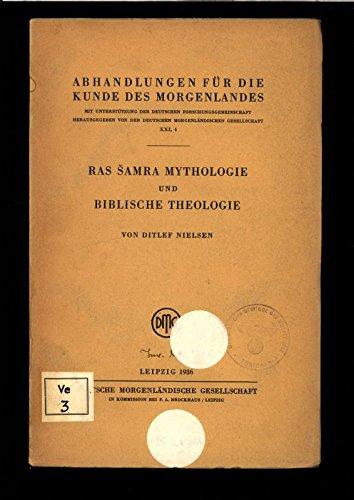 Ras Samra Mythologie und biblische Theologie.