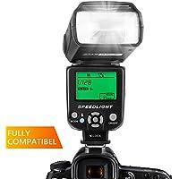 ESDDI Flash Speedlite para Canon Nikon Panasonic Olympus Pentax y Otras cámaras DSLR con Pantalla LCD