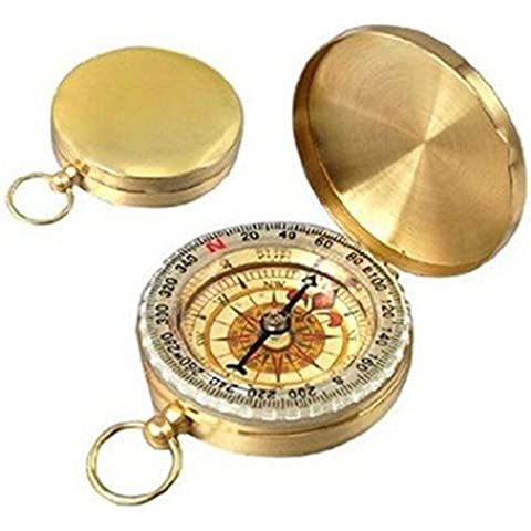 Compass, SoftFloat® Camping Hiking Portable Pocket Compass Watch Style Flip-Open Compass Outdoor Camping Navigation