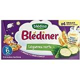 Blédina blédiner lait et légumes verts sans gluten 4x250ml dès 4-6 mois - ( Prix Unitaire ) - Envoi Rapide Et...