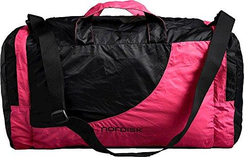 Nordisk Billund Ultraleichte Reise- Sporttasche, 45 L, Ideal für Outdoor, Freizeit, Reisen, Sport, Einkaufen, 250 g, Nylon Rip-Stop, packbar, pink
