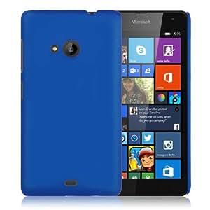 WOW Imagine Matte Rubberised Hard Case Back Cover For Nokia Microsoft Lumia 535 (Blue)
