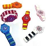 German Trendseller 12 x Armbanduhr Holz ┃ Kinder ┃ Mitgebsel ┃ Kindergeburtstag ┃ Für 12 Kinder