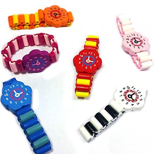 German Trendseller® - 12 x Armbanduhr Holz ┃ Kinder ┃ Mitgebsel ┃ Kindergeburtstag ┃ Für 12 Kinder