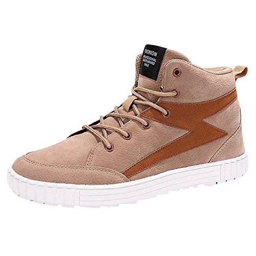 NEOKER Uomo Scarpe da Skateboard Sportive Corsa Sneakers Ginnastica Outdoor Multisport Shoes Nero Grigio Marrone 39-45 Marrone