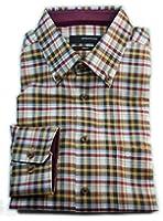 Seidensticker Herren Hemd Splendesto Regular Fit Flannel Button-Down-Kragen mehrfarbig kariert mit Patch 386772.66