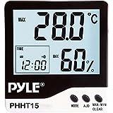 Pyle PHHT15 Hygro-thermomètre d'intérieur à affichage digital Blanc