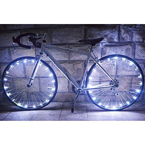 Forfar LED Bike Cycling Lights Wheel Light Bicycle String Strip Reflectors Lamp Cycling Rim Lights