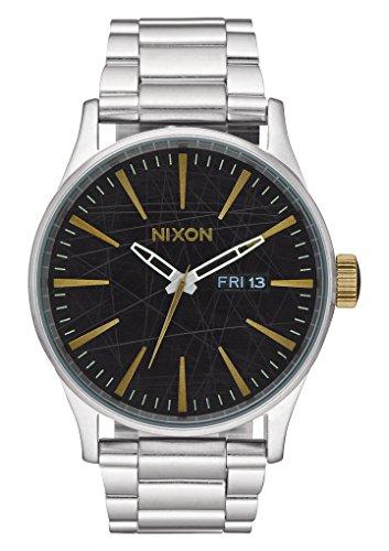 nixon-unisex-armbanduhr-sentry-ss-analog-quarz-edelstahl-a356-2222-00