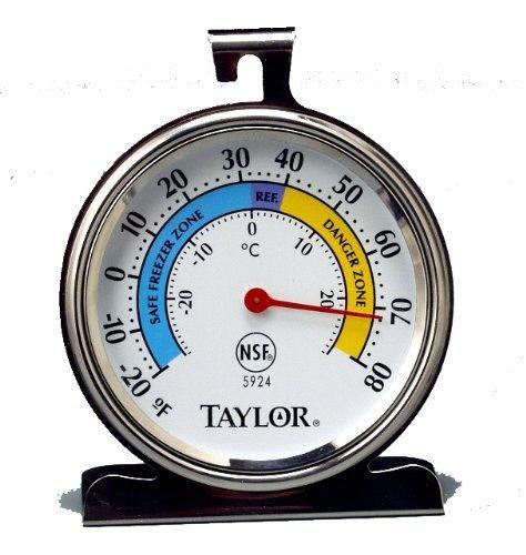 Taylor Lebensmittel Service Serie Classic Gefrierschrank, Kühlschrank Thermometer, Großes Zifferblatt von Taylor Thermometer Taylor Thermometer
