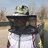 Keptfeet Mosquito Mask, Anti-mosquito Bee Bug Insect Fly Mask Cap with Head Net Mesh Face Protection Outdoor Fishing Equipment