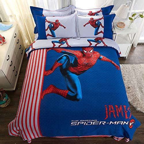 LIYIMING Bettwäschesatz 3D Cartoon Junge Bettwäsche Multi Größe 4 Stück Bettdecke/Tröster Abdeckung Jugendlich Erwachsene Geschenke (200cm * 230cm) -