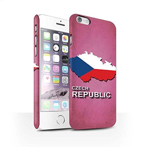 STUFF4 Matte Snap-On Hülle / Case für Apple iPhone 7 Plus / Deutschland/Deutsch Muster / Flagge Land Kollektion Tschechische