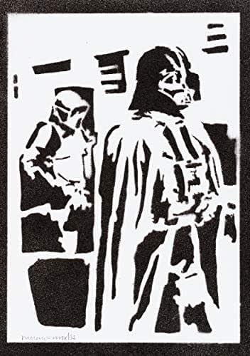 Poster Darth Vader STAR WARS Handmade Graffiti Street Art - Artwork