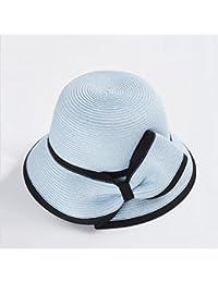 QZ HOME Primavera Y Verano Sra. Protección Solar Visor Elegante Vacaciones  Gorro De Playa Protección UV Sombrero para El Sol Plegable (Color… 6f83333c76c