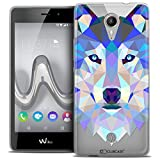 Caseink - Coque Housse Etui pour Wiko Tommy [Crystal Gel HD Polygon Series Animal - Souple - Ultra Fin - Imprimé en France] Loup