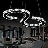 Deckenleuchte ELINKUME Kristal Pendelleuchte 23W LED Luster