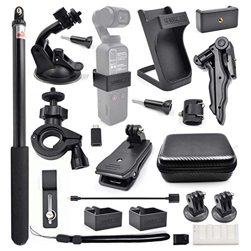 STARTRC OSMO Pocket Expansion Accessories Kit,21-In-1 Handheld Action Camera Mounts for DJI OSMO Pocket
