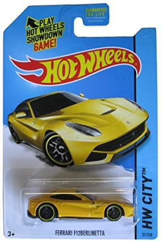 Hot Wheels 2014 HW City Ferrari F12 Berlinetta Yellow #31/250 by Mattel
