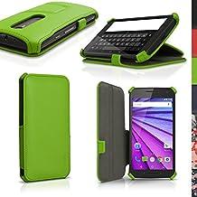 igadgitz u4157funda PU piel para Motorola Moto G 3A generación XT1540libro carcasa–verde