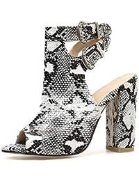 a272aa17155f2 Amazon.es  hebilla metal - 8 - 11 cm   Zapatos para mujer   Zapatos ...