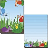 2 Stück Schreibblöcke lustige Schneckenparade 50 Blatt Format DIN A5 mit Deckblatt 7120
