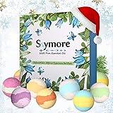 Skymore Bombas de Baño con Aceites Esenciales, Regalo de San Valentín, 9Unidades, Aromaterapia de Baño Bolas, Aromas/Colores, 1er Pack (1x 9 Unidades)