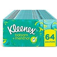 Kleenex Balsam + Menthol Fazzoletti, 8 Pacchi da 8 Pezzi