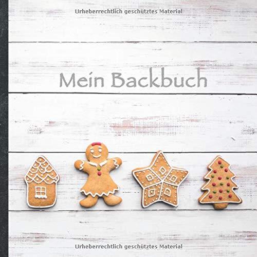 """Mein Backbuch: blanko Rezeptbuch zum Selberschreiben • Platz für 100 Backrezepte • mit Register • Design """"DIY Backen 1006"""" • praktisches 21 x 21 cm ... Kuchen, Plätzchen backen • Do it Yourself!"""