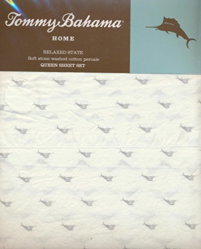 tommy-bahama-home-queen-size-4-piece-sheet-set-tiny-gray-marlin-fish-by-tommy-bahama