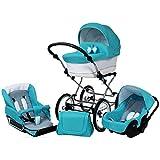 Carro bebé clásico. 3 piezas: capazo, silla, silla de coche, accesorios. BBtwin Candy