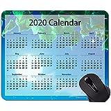 Tappetini per mouse calendario 2020 personalizzati, foglie Tappetino per mouse a tema cielo con bordo cucito