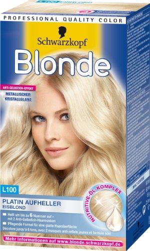 Blonde L100 Platin Aufheller Eisblond, 3er Pack (3 x 1 Stück)