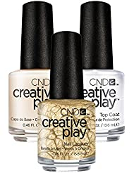 CND Creative Play Poppin Bubbly Nr. 464 13,5 ml mit Creative Play Base Coat 13,5 ml und Top Coat 13,5 ml, 1er Pack (1 x 0.041 l)