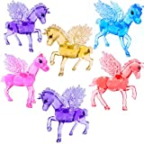 German Trendseller® - 3 x magiques chevaux en optique cristal┃couleurs vives┃pour enfants┃ petit cadeau┃l'anniversaire d'enfant┃ pegasus┃ chevaux avec ailes