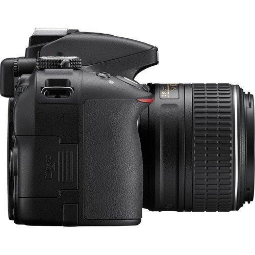 Nikon D5300 DSLR Camera Body with Dual Lens: AF-P DX NIKKOR 18 - 55 mm f/3.5 - 5.6G VR + AF-P DX NIKKOR 70 - 300 mm f/4.5 - 6.3G ED VR (16 GB SD Card + Camera Bag)(Black) 2