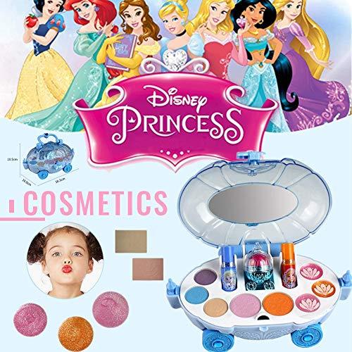 Dough.Q 19 Stücke Disney EIS Prinzessin Make-Up Auto Spielzeug Set Mini Haus Kosmetik Spielzeug mit...