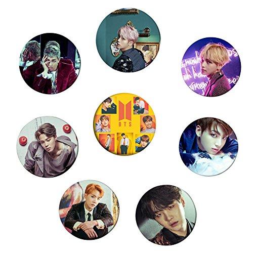 Grapes Garden BTS Bangtan Boys Kpop BTS [Liebe dich selbst 承 'HER'] Buttons Abzeichen Pin Button 58mm 8 Stück(H02)