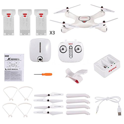 Syma Quadrocopter Drone Original X25 Pro GPS Wifi FPV RC Drohne mit 1MP Kamera Quadcopter mit Headless-Modus One Key Return Einfache Bedienung Ausgestattet