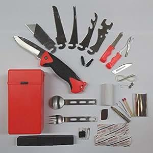copytec kit de survie 27 pi ces arm e couteau de survie outil multifonctions kit de survie. Black Bedroom Furniture Sets. Home Design Ideas