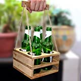 EarthenMetal Handcrafted Wooden Pint Beer Bottle Holder