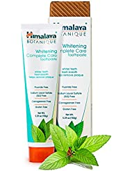 Botanique Whitening Simply Mint 150g - All Natural Fluoride-Free SLS FREE, Gluten Free and Carrageenan Free Organic Toothpaste. Vegetarian and Vegan Friendly by (Himalaya (Since 1930)