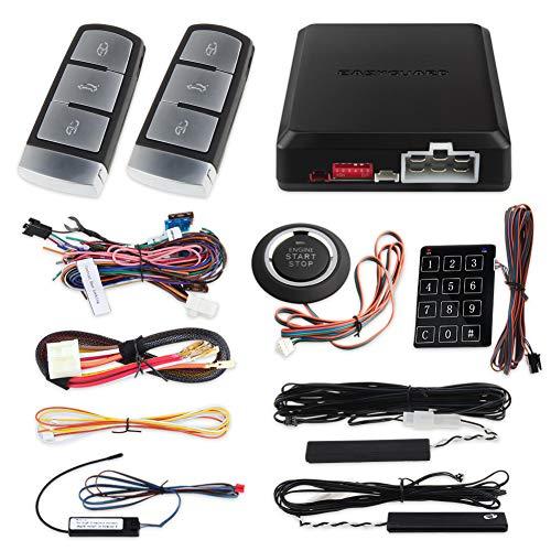 Push-button-backup (EasyGuard ec002-v0PKE Passive Keyless Entry Car Alarm System Auto Start Push Start Button Touch Passwort Keypad Backup Keyless Go Rolling Code DC12V)