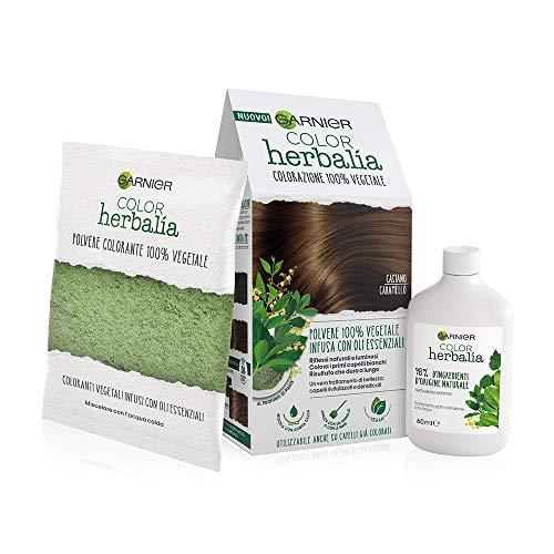 Garnier Herbalia Color Colorazione Permanente per Capelli 100% Vegetale con Henné Indigo e Cassia per Riflessi Naturali e Luminosi Capelli
