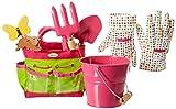 Little Pals Gartenwerkzeug für Kinder in rosa