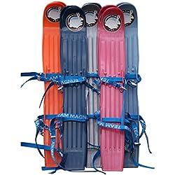 Miniski Team Magnus per bambini per i primi passi sulla neve (Nero)