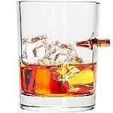 Whiskey Glas mit einer echten Gewehr Kugel Kal.308 Real Bullet Whiskey Glass. Ein echter Shot Mundgeblasen