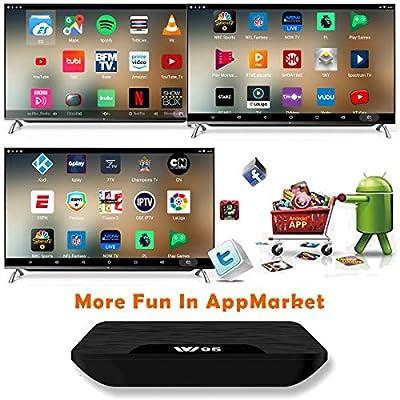 TV Box Android 7.1 - VIDEN W2 Smart TV Box Dernière Amlogic S905X Quad-Core, 2Go RAM & 16Go ROM, 4K UHD H.265, USB, HDMI, WiFi Lecteur Multimédia, Mini Clavier sans Fil [Version améliorée] de VIDEN